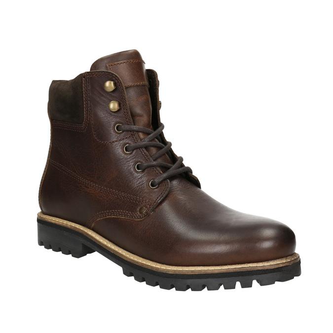 Zimowe obuwie ze skóry bata, brązowy, 896-4692 - 13