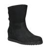 Skórzane obuwie typu ugg na koturnach gabor, czarny, 616-6011 - 13