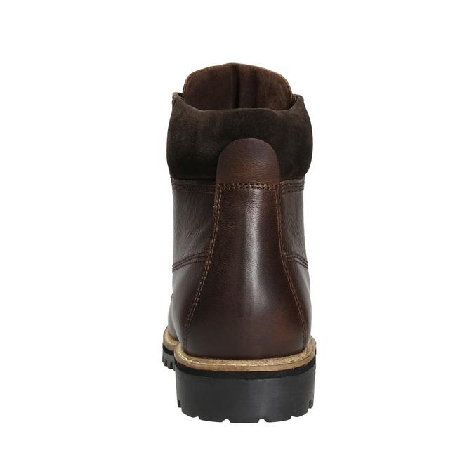 Zimowe obuwie ze skóry bata, brązowy, 896-4692 - 16