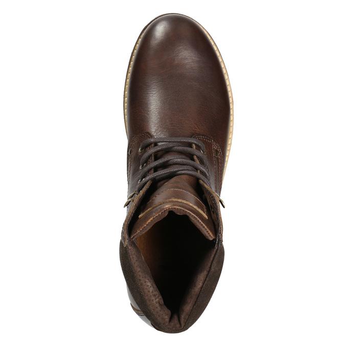 Zimowe obuwie ze skóry bata, brązowy, 896-4692 - 15
