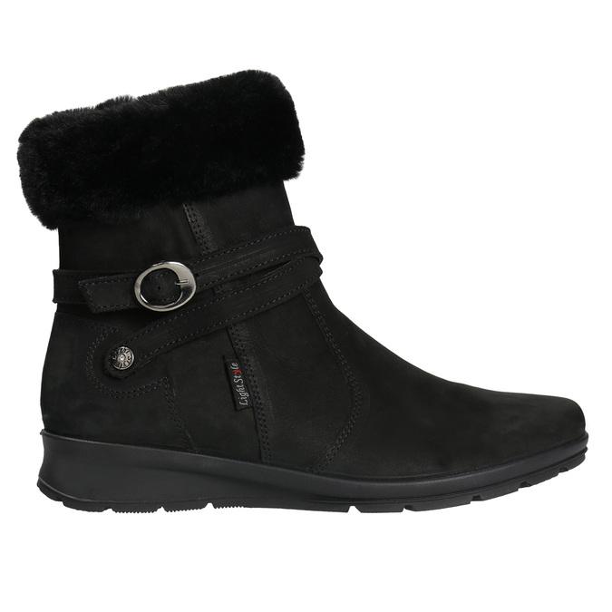 Buty damskie zimowe zfuterkiem, czarny, 696-6623 - 15