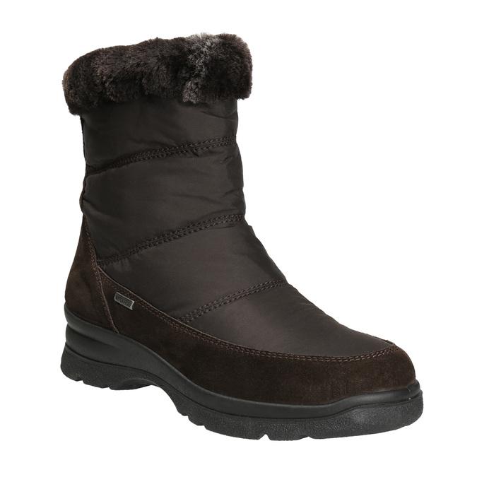 Damskie obuwie zimowe, brązowy, 599-4618 - 13