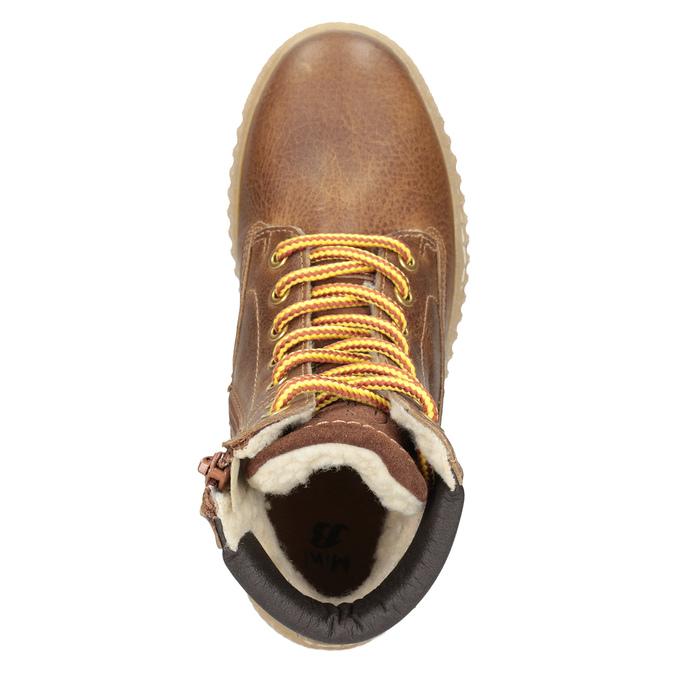 Brązowe zimowe obuwie dziecięce mini-b, brązowy, 496-4620 - 15
