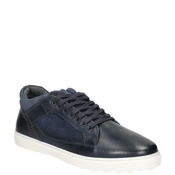 Skórzane trampki męskie bata, 846-6643 - 13