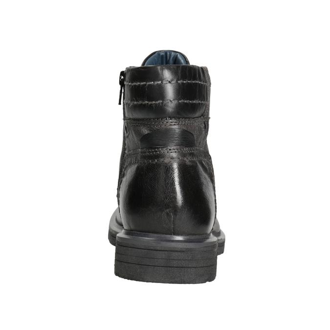 Zimowe skórzane buty męskie bata, szary, 896-2682 - 16