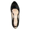 Skórzane czółenka zotwartymi noskami bata, czarny, 623-6603 - 15