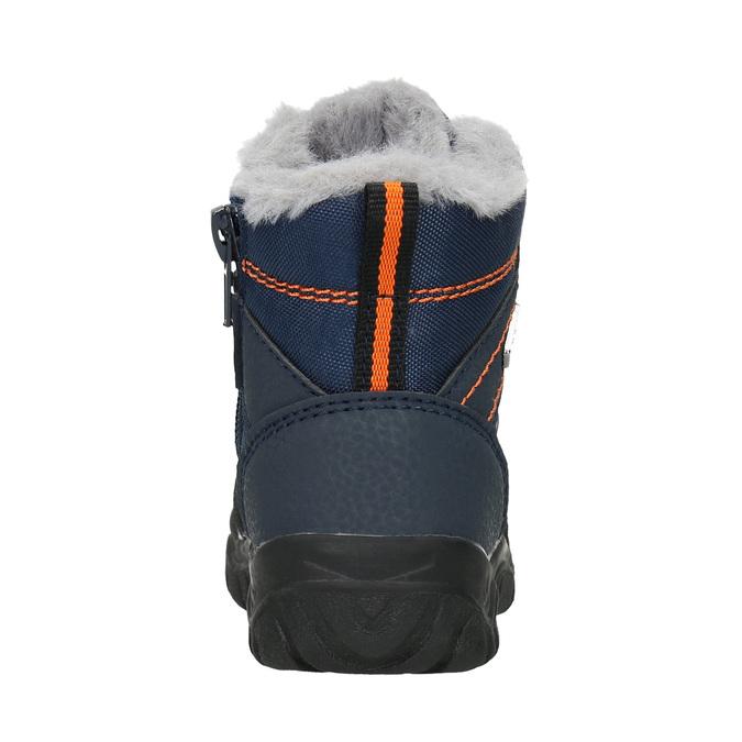 Zimowe buty dziecięce zfuterkiem bubblegummer, niebieski, 199-9603 - 16
