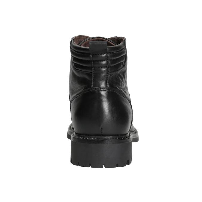Skórzane buty męskie bata, czarny, 894-6695 - 16
