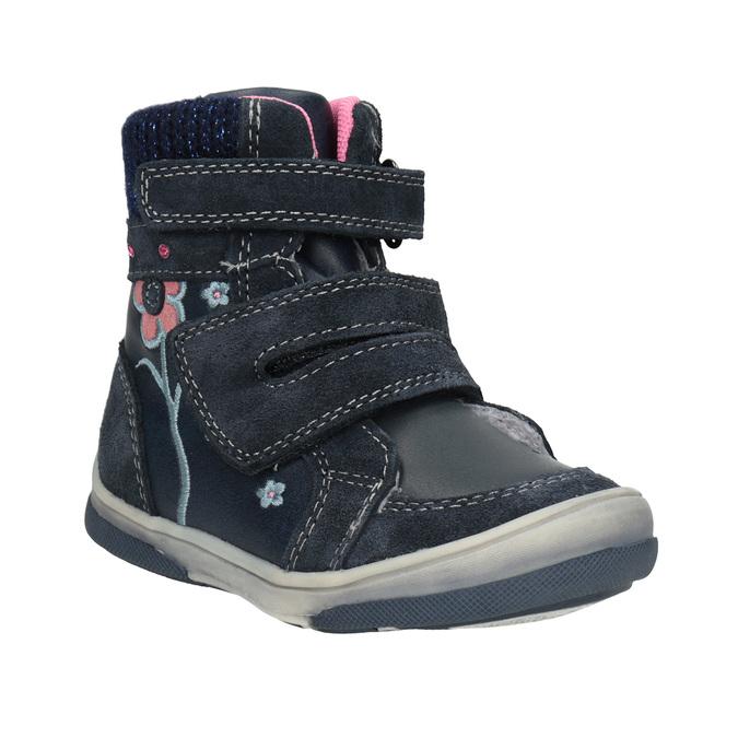 Zimowe skórzane obuwie dziecięce bubblegummer, niebieski, 124-9602 - 13