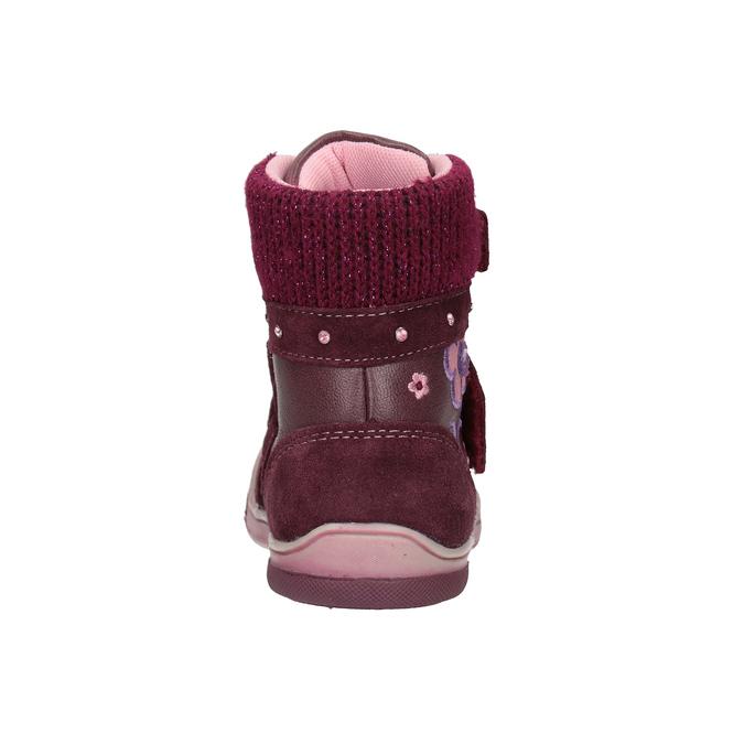 Zimowe skórzane buty dziecięce bubblegummer, czerwony, 124-5602 - 16