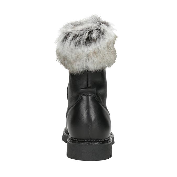 Skórzane kozaki damskie bata, czarny, 594-6657 - 16