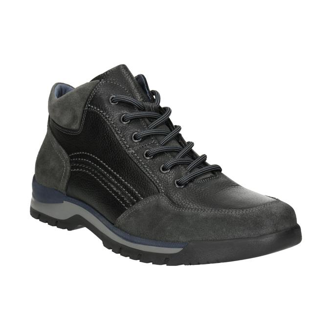 Nieformalne skórzane trampki męskie bata, czarny, 896-6705 - 13