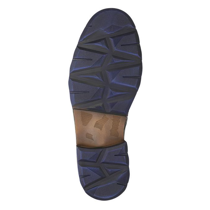 Skórzane buty zniebieskimi detalami bata, szary, 896-2679 - 19