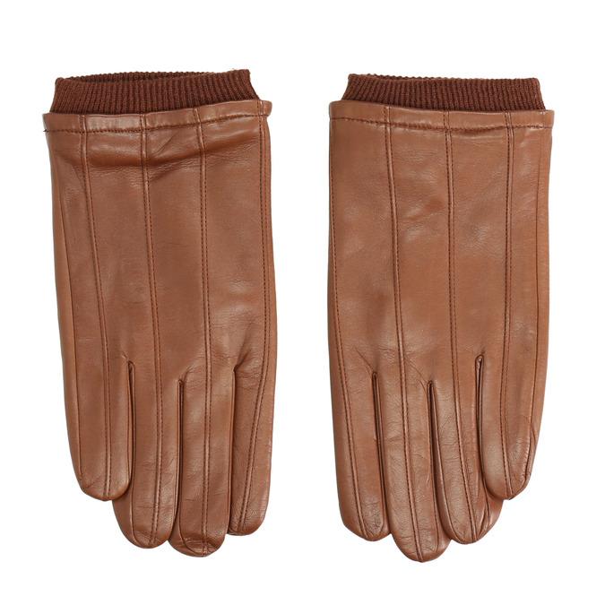 Brązowe skórzane rękawice bata, brązowy, 904-3117 - 26