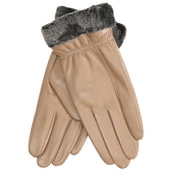 Beżowe skórzane rękawiczki damskie bata, beżowy, 904-4112 - 13