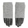 Skórzane rękawiczki zdzianinowymi ocieplaczami bata, szary, 904-2125 - 26