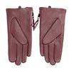 Bordowe skórzane rękawiczki zzamkami błyskawicznymi bata, czerwony, 904-5108 - 16