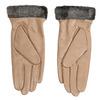 Beżowe skórzane rękawiczki damskie bata, beżowy, 904-4112 - 16