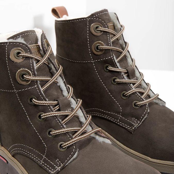 Zimowe buty damskie ze skóry weinbrenner, brązowy, 596-4666 - 14