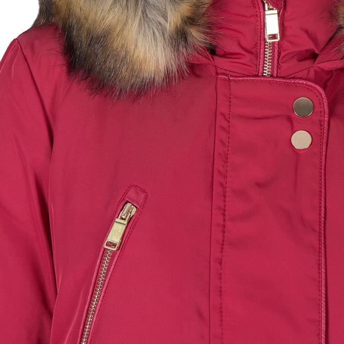 Czerwona kurtka damska zkapturem bata, czerwony, 979-5177 - 16
