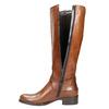 Brązowe skórzane kozaki bata, brązowy, 596-4665 - 26