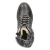 Skórzane buty zimowe zfuterkiem bata, szary, 594-6650 - 17