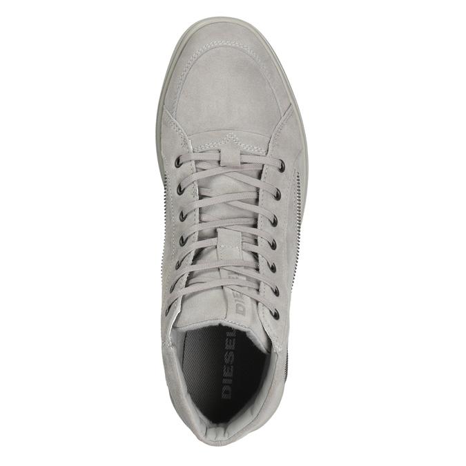 Skórzane buty męskie za kostkę diesel, szary, 803-2629 - 15