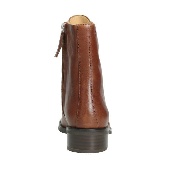 Skórzane kozaki damskie vagabond, brązowy, 626-3034 - 16