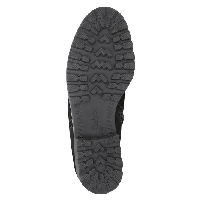 Skórzane botki zfuterkiem gabor, czarny, 616-6009 - 17