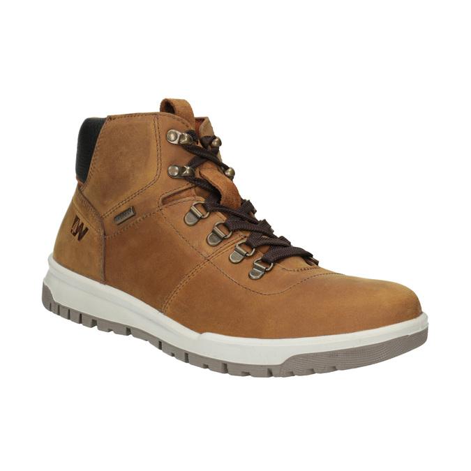 Skórzane buty męskie za kostkę weinbrenner, brązowy, 896-3701 - 13