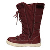 Bordowe śniegowce damskie bata, czerwony, 599-5621 - 15