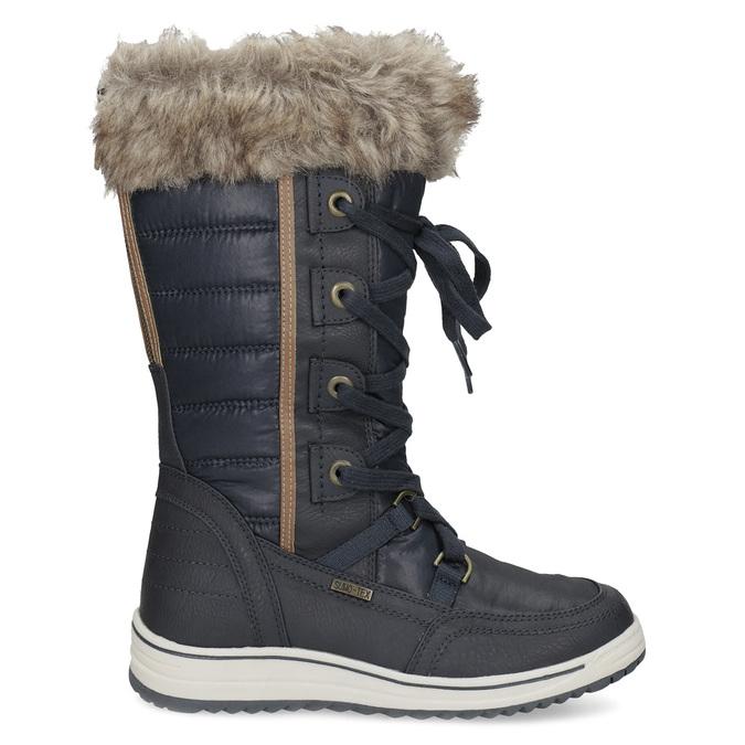 Śniegowce damskie zfuterkiem bata, niebieski, 599-9620 - 19