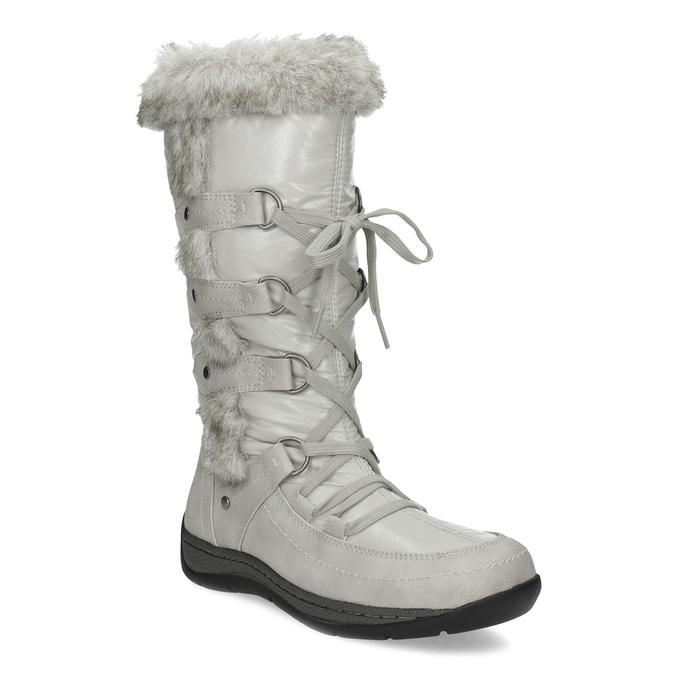 Zimowe śniegowce zfuterkiem bata, szary, 599-8618 - 13