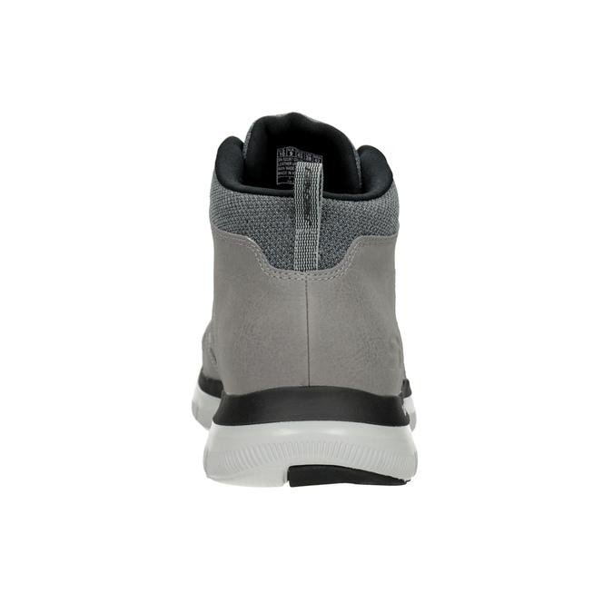 Skórzane buty męskie za kostkę skechers, czarny, 806-6327 - 15