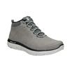 Skórzane buty męskie za kostkę skechers, czarny, 806-6327 - 13
