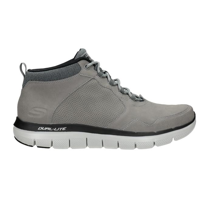 Skórzane buty męskie za kostkę skechers, czarny, 806-6327 - 16