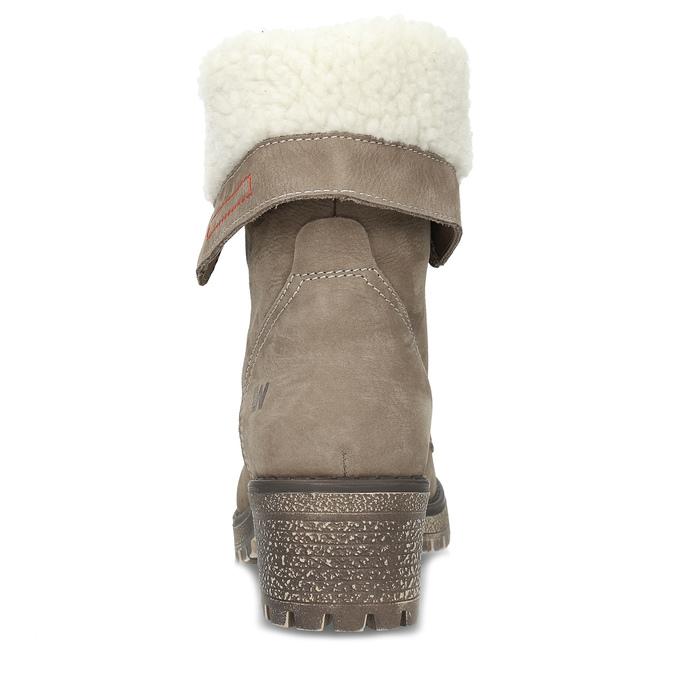 Zimowe buty damskie ze skóry weinbrenner, brązowy, 696-4336 - 15