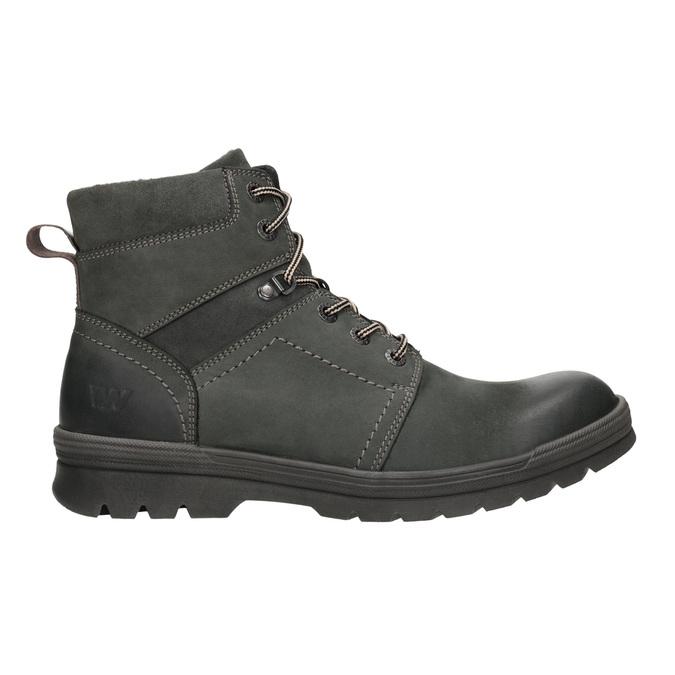 Skórzane obuwie za kostkę weinbrenner, szary, 896-2703 - 26