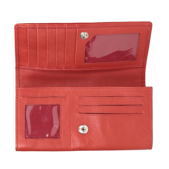 Czerwony skórzany portfel damski bata, czerwony, 944-3203 - 15
