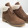 Zimowe buty damskie zfuterkiem bata, brązowy, 593-4607 - 14