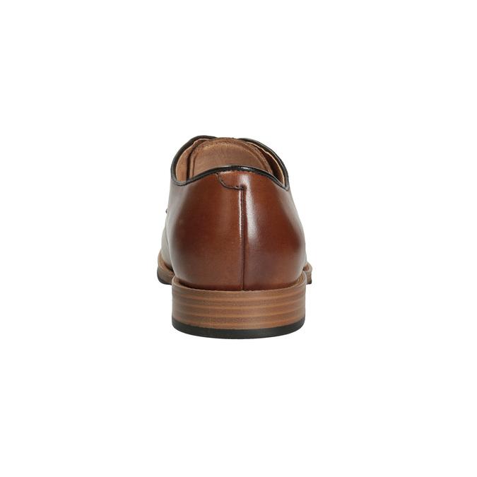 Skórzane półbuty męskie na grubszej podeszwie bata, brązowy, 826-3809 - 15
