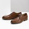Skórzane półbuty męskie na grubszej podeszwie bata, brązowy, 826-3809 - 16