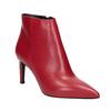 Czerwone skórzane botki bata, czerwony, 794-5651 - 13