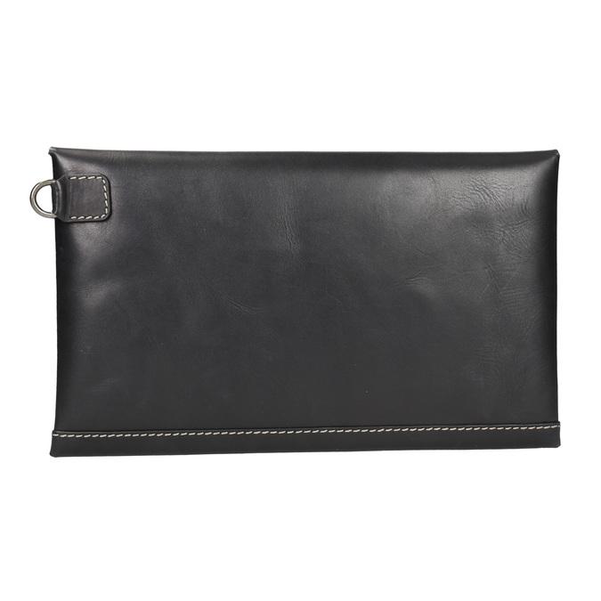 Czarna skórzana kopertówka bata, czarny, 966-6285 - 16