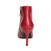 Czerwone skórzane botki bata, czerwony, 794-5651 - 15