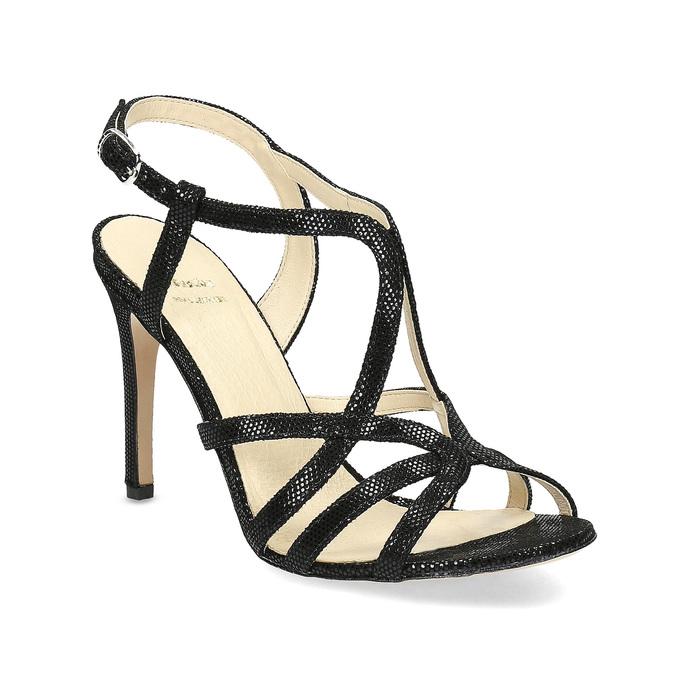 Wyjściowe sandały damskie bata, czarny, 726-6648 - 13