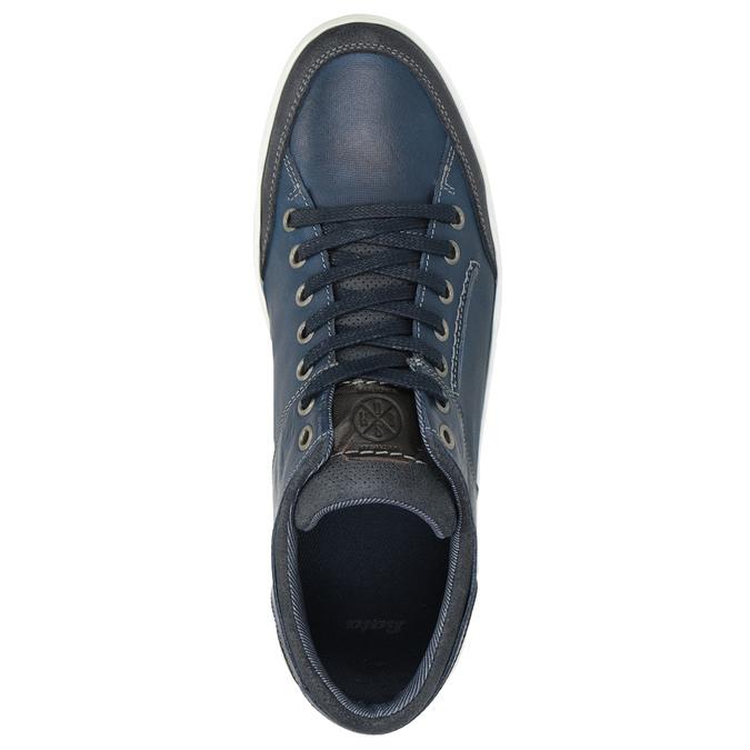 Granatowe skórzane trampki bata, niebieski, 846-9927 - 15