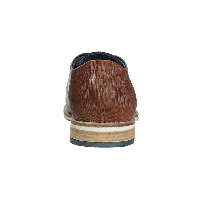 Skórzane półbuty męskie typu angielki bata, niebieski, 826-9924 - 16
