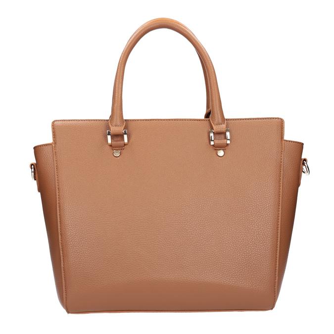 Brązowa torba zodpinanym paskiem bata, brązowy, 961-3845 - 26