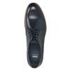 Granatowe skórzane półbuty bata, niebieski, 826-9810 - 15
